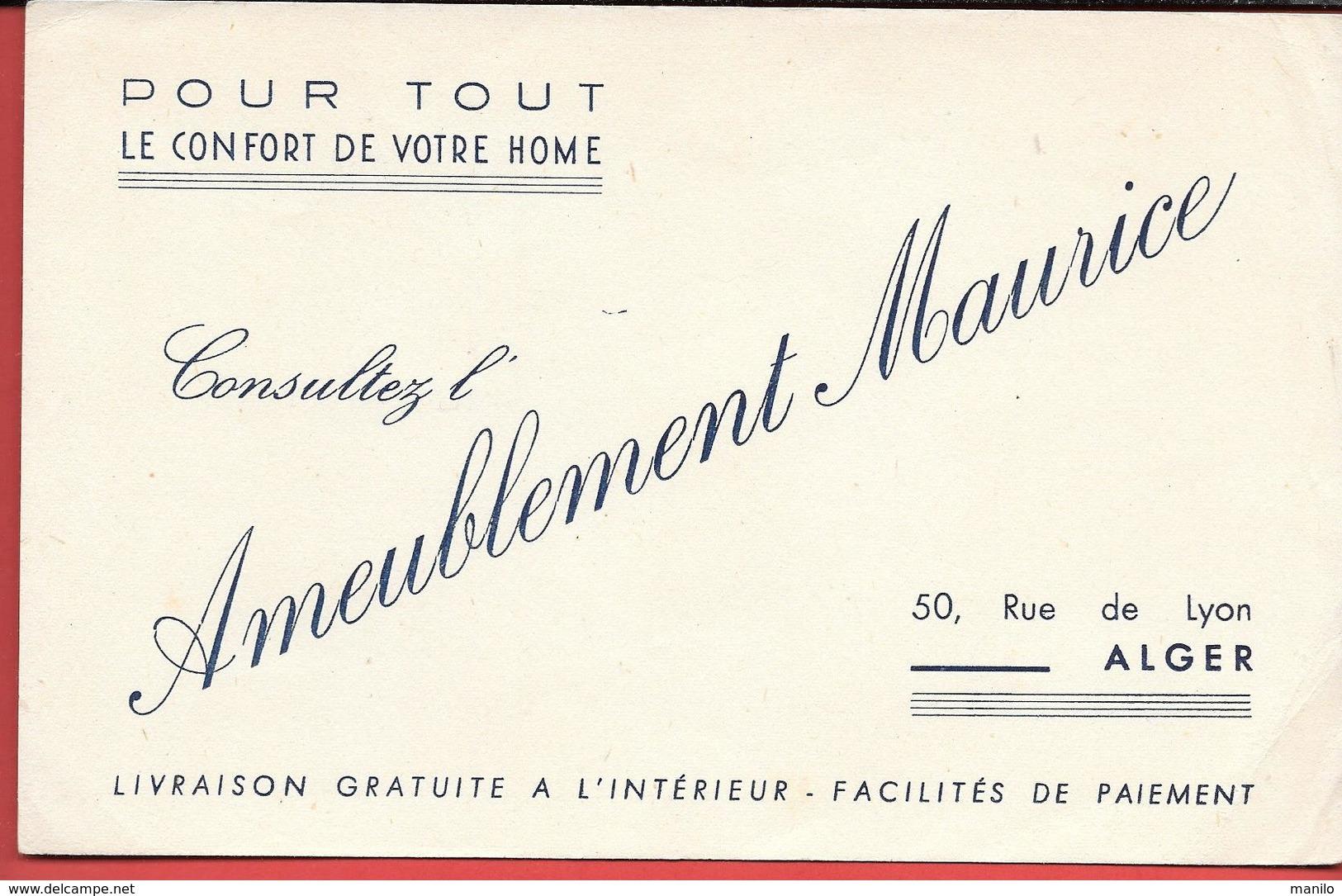 Buvard Ancien - AMEUBLEMENT MAURICE Rue De Lyon ALGER - Pour Tout Le Confort De Votre Home - - A