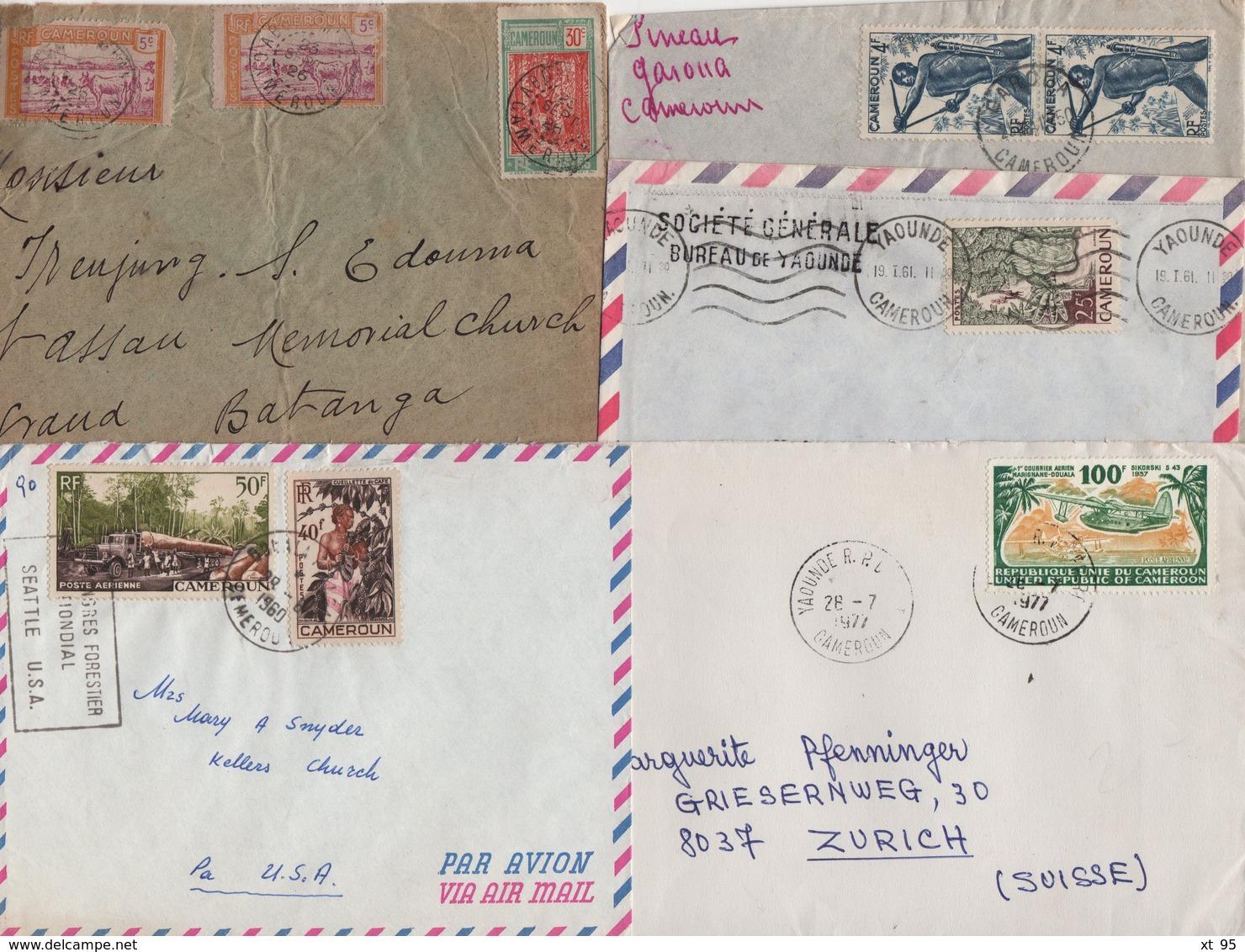 Cameroun - Lot De 5 Lettres - Kamerun (1915-1959)