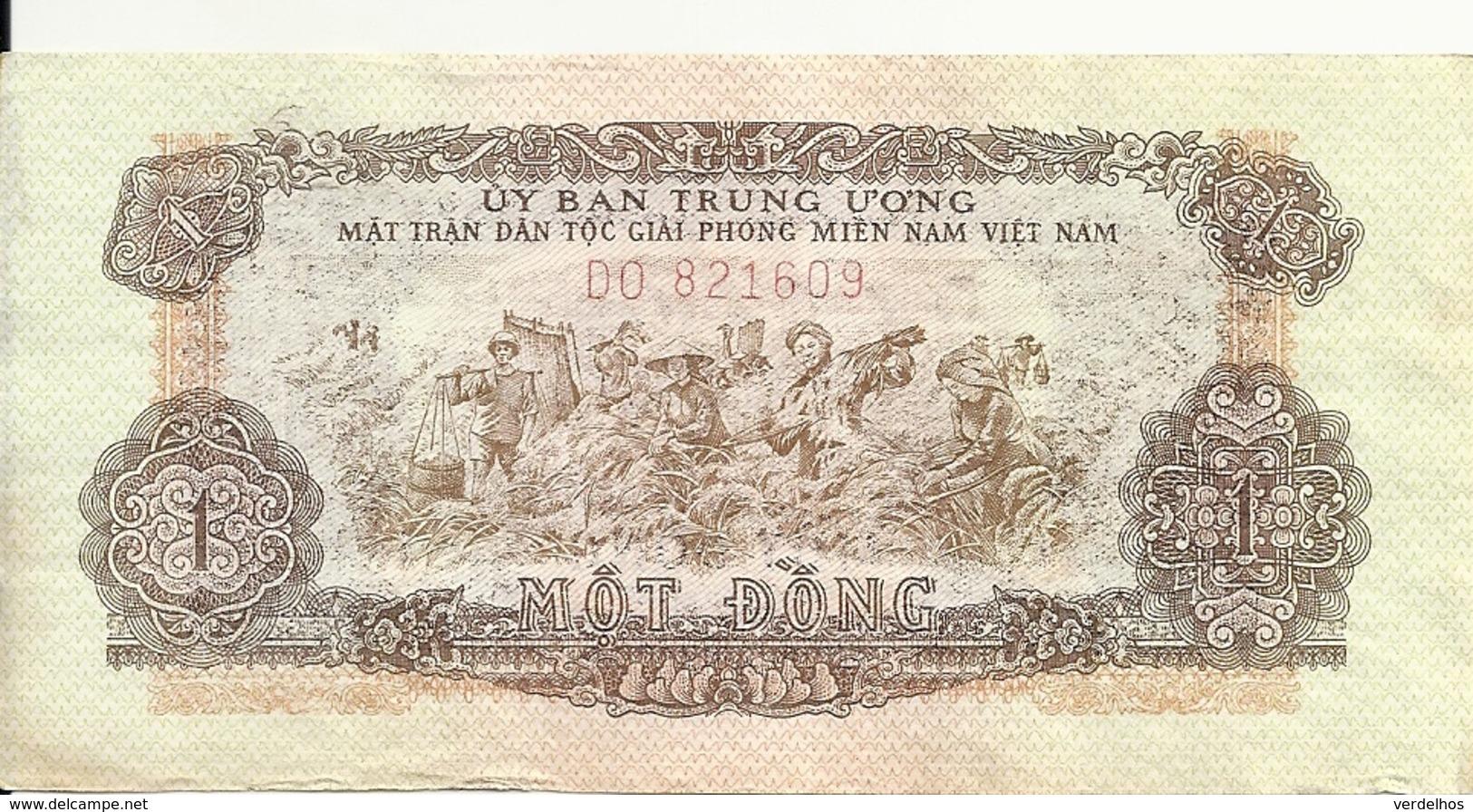 VIET NAM SOUTH 1 DONG ND1963 VF P R4 - Vietnam