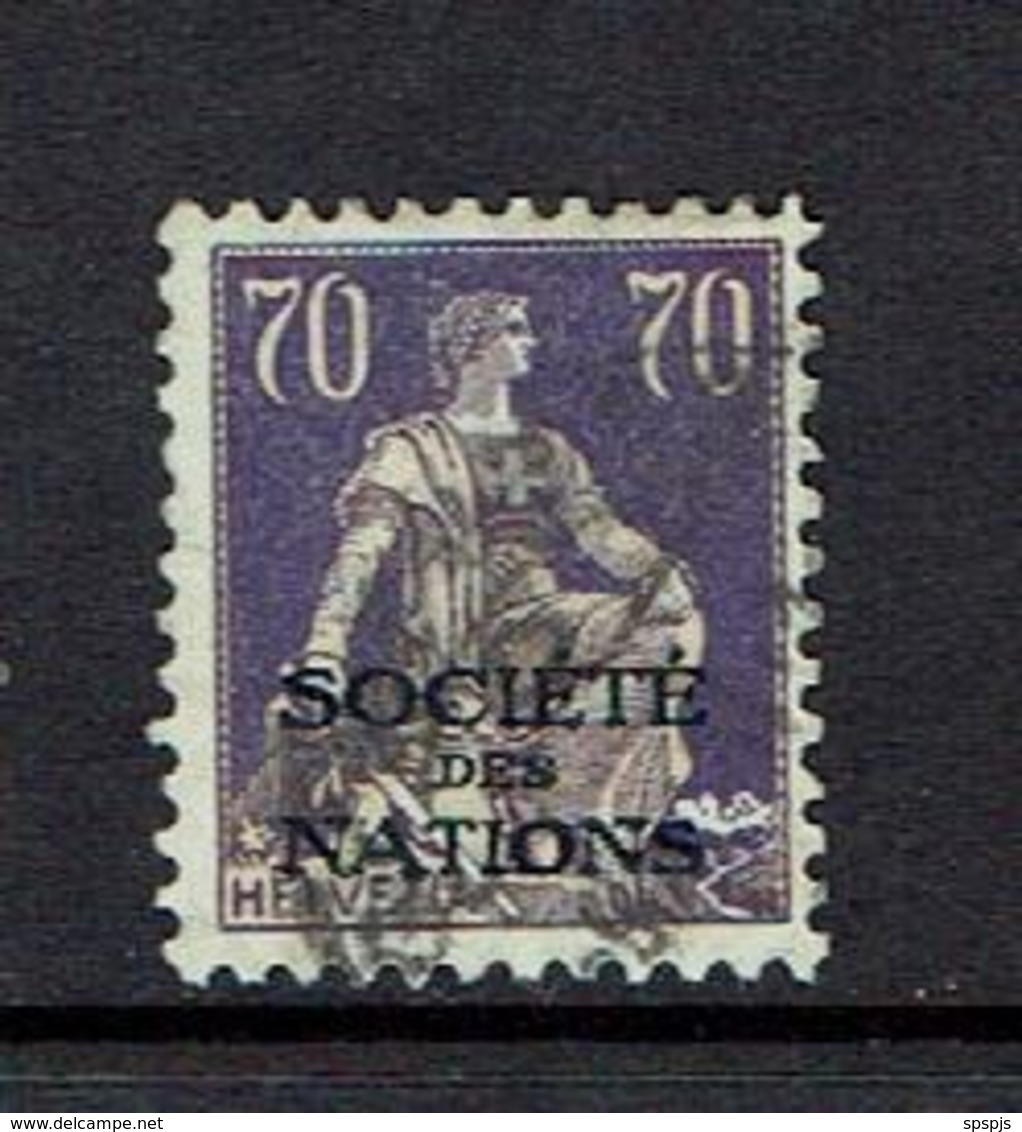 SWITZERLAND...Official..Society Of Nations..used - Servizio