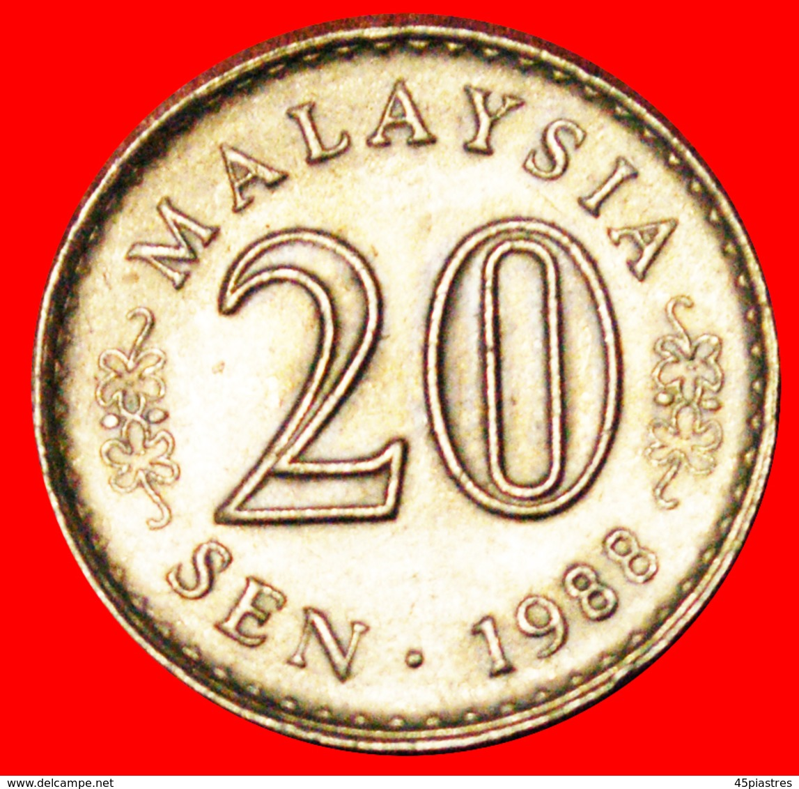 √ MOON AND STAR ERROR: MALAYSIA ★ 20 SEN 1988! LOW START ★ NO RESERVE! - Malaysie
