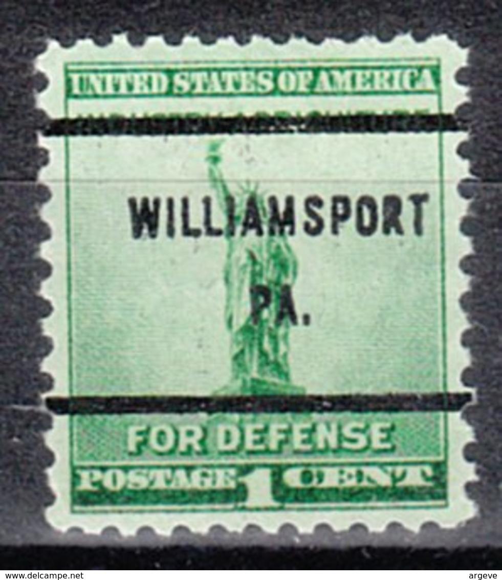 USA Precancel Vorausentwertung Preo, Bureau Pennsylvania, Williamsport 899-61 - Vereinigte Staaten