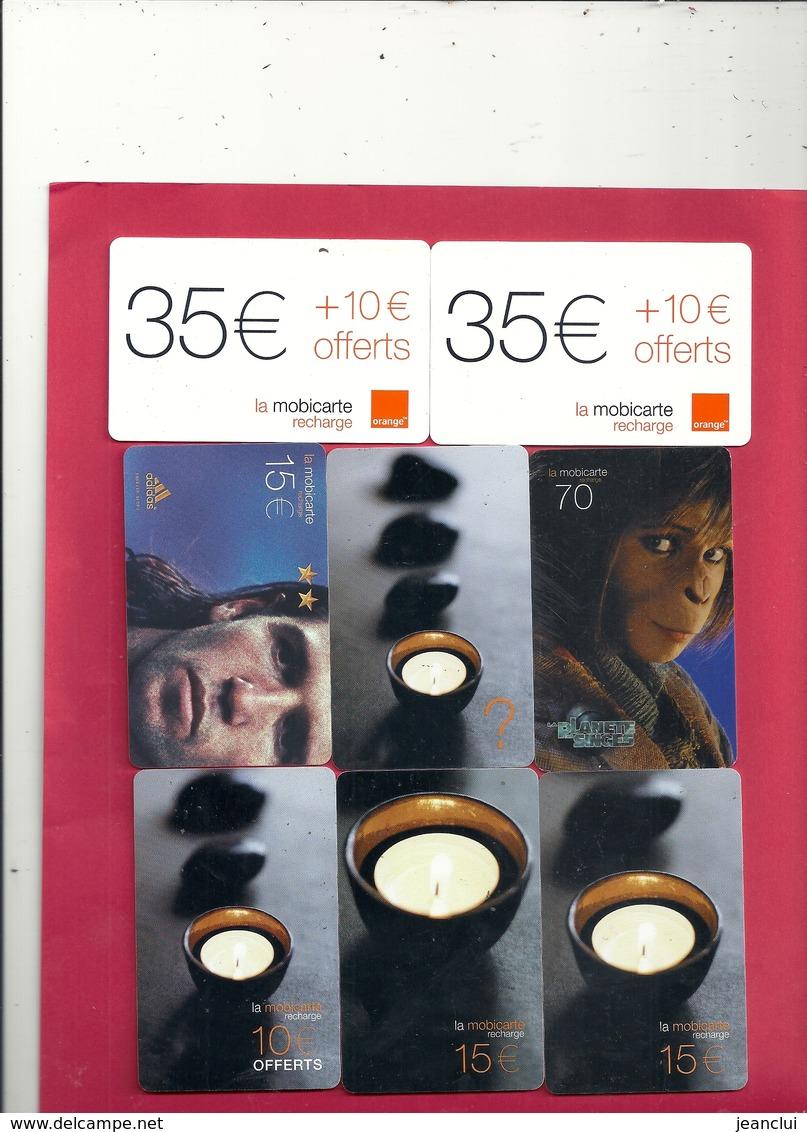 PETIT LOT DE 8 CARTES MOBICARTE . ( Les  Deux 35+ 10 Sont Ident ) - Télécartes