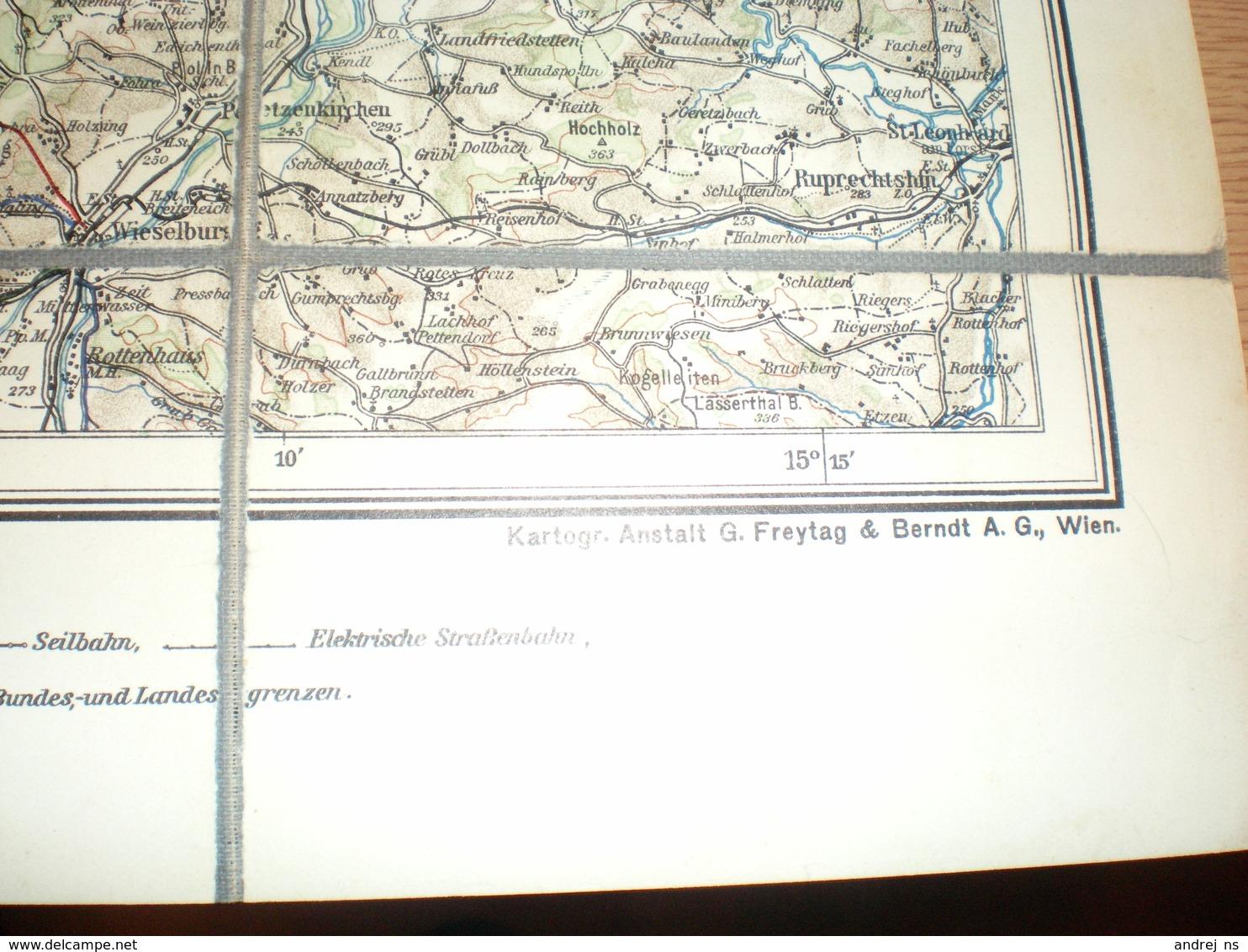 Valdviertel Mit Dem Donautale G Freytag Berndt S Touristen Wanderkarte - Cartes Géographiques