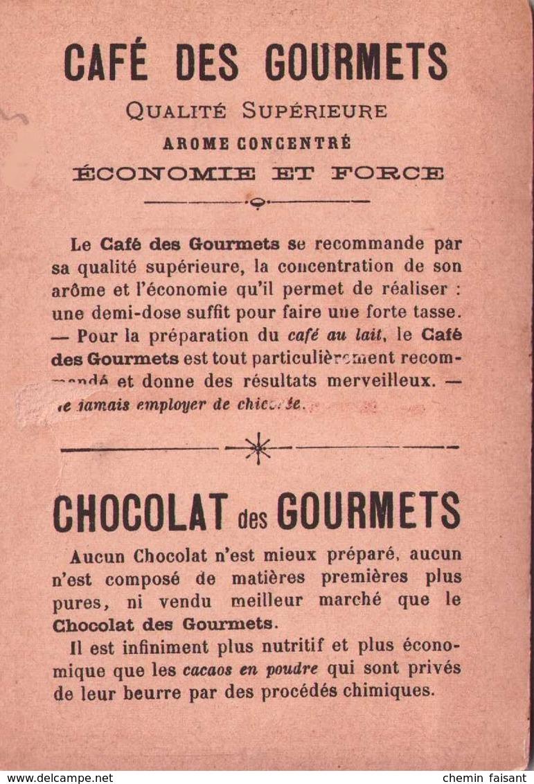 Chromo Chocolat Des GOURMETS & Cafés - Défense De St-Privat - Scans Recto-verso - Otros