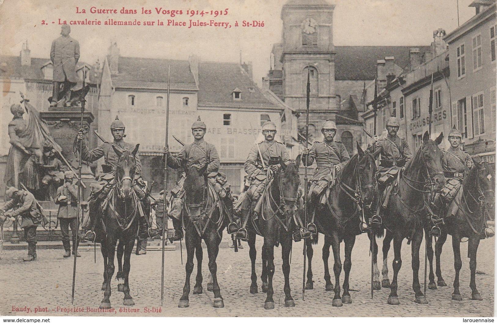 88 - SAINT DIE - La Cavalerie Allemande Sur La Place Jules Ferry - Saint Die