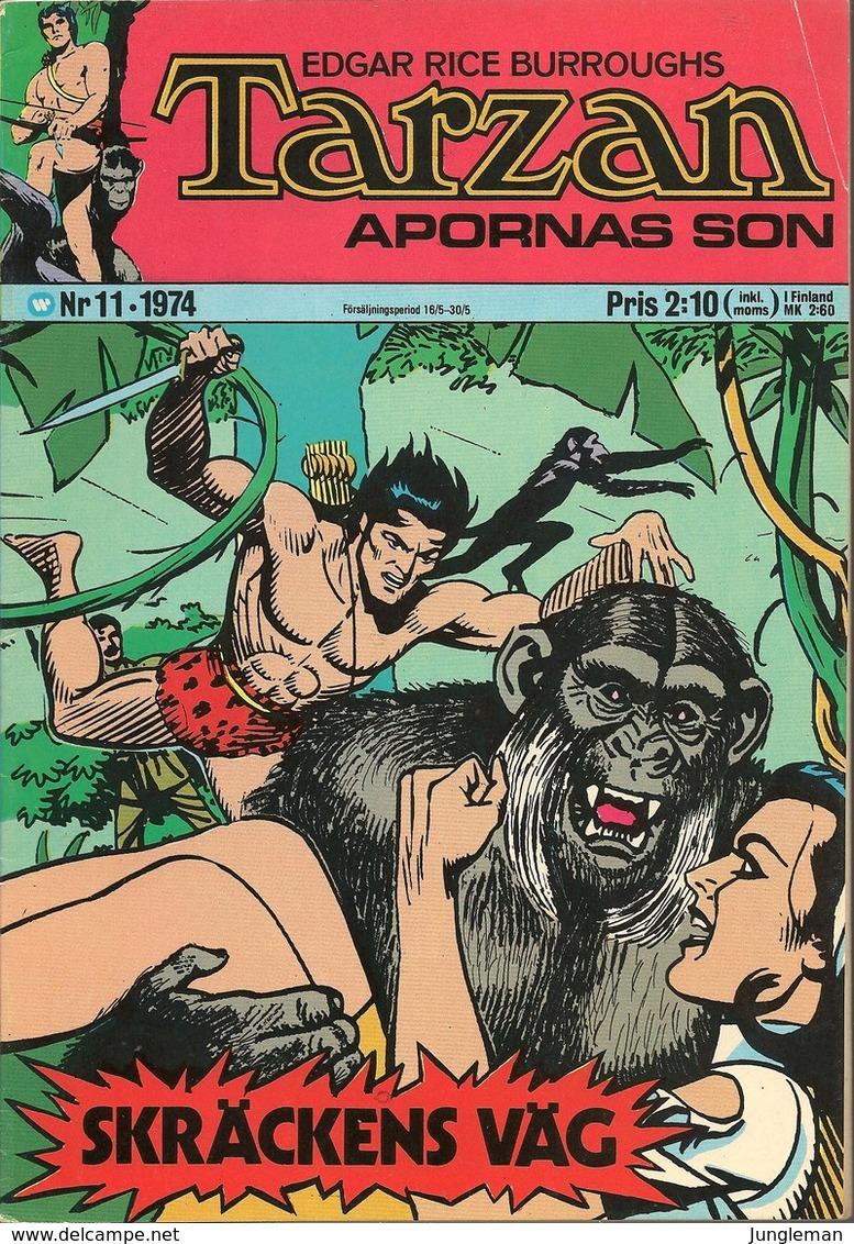 Tarzan Apornas Son Nr 11 - 1974 (In Swedish) Williams Förlags - Skräckens Väg - John Celardo - BE - Scandinavian Languages