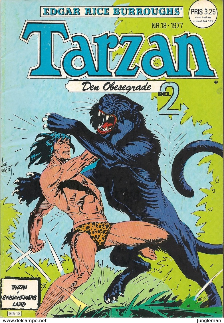 Tarzan Apornas Son Nr 18 - 1977 (In Swedish) Atlantic Förlags AB - Tarzan Den Obesegrade – Liv För Liv - Del 2 - BE - Scandinavian Languages