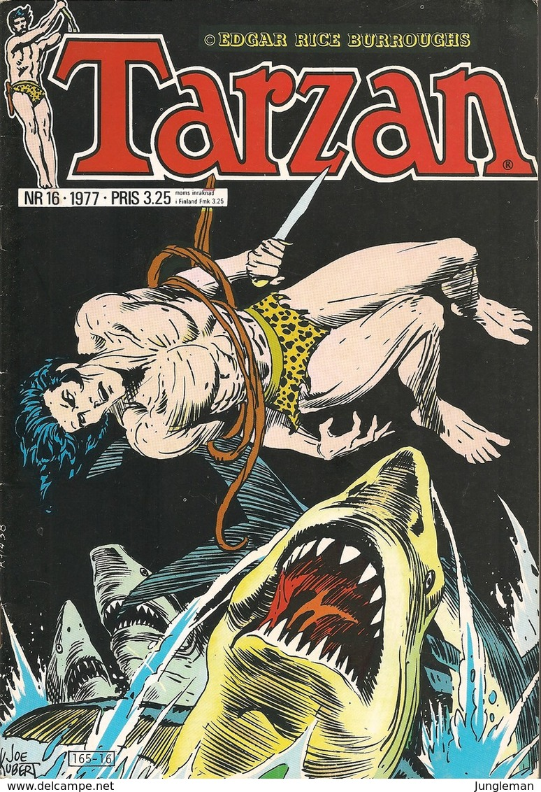 Tarzan Apornas Son Nr 16 - 1977 (In Swedish) Atlantic Förlags AB - Tarzan Och De Skeppsbrutna – Solgudens Tempel - BE - Livres, BD, Revues