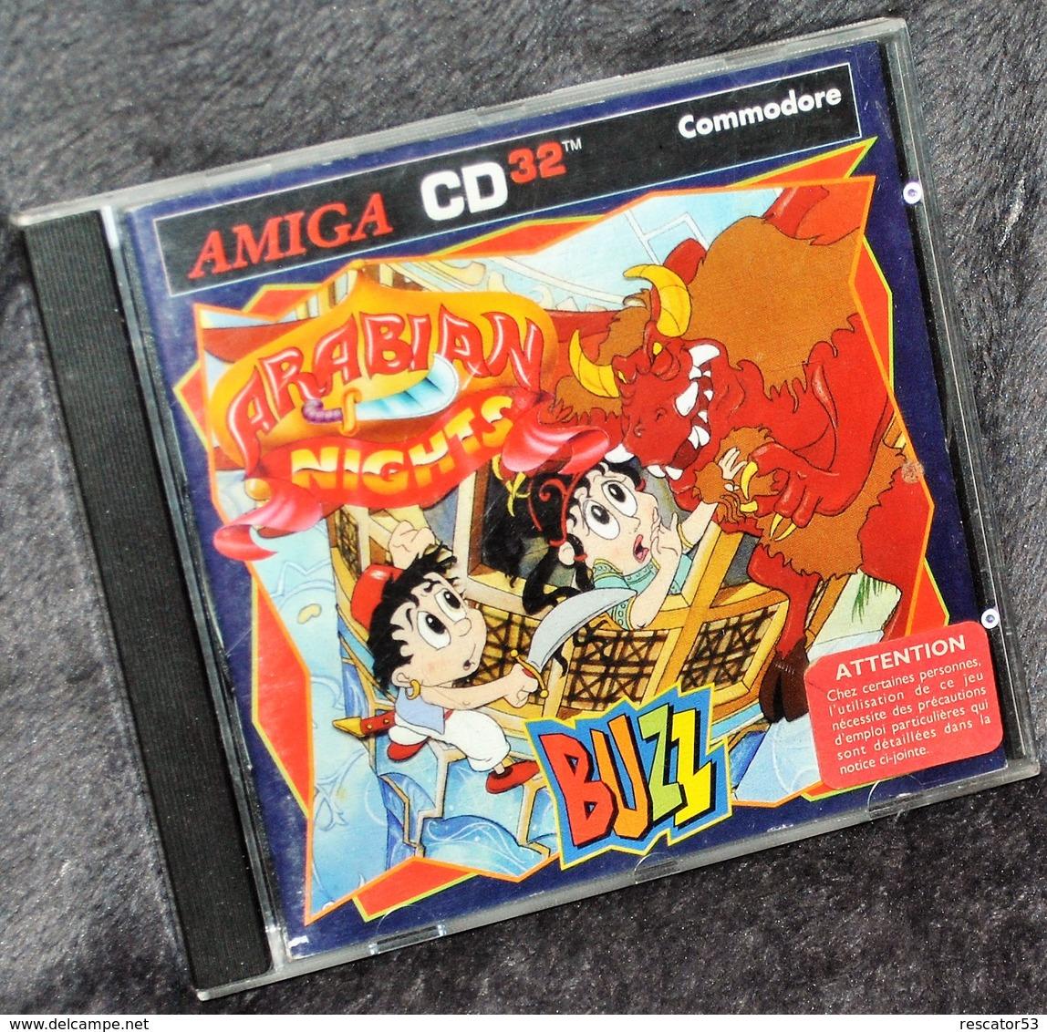 Très Rare Console Jeux Amiga CD32 Commodore Arabian Night Buzz - Autres