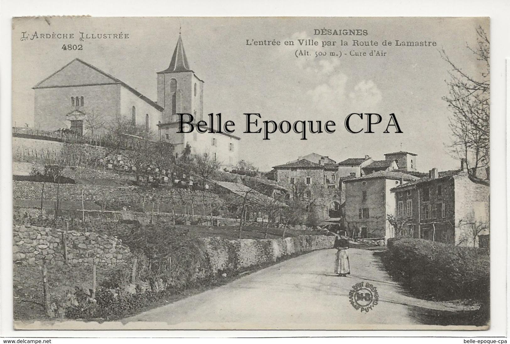 07 - DÉSAIGNES - Entrée En Ville Par La Route De Lamastre +++ Margerit-Brémond, Le Puy / MB, #4802 +++ 1940 - Andere Gemeenten