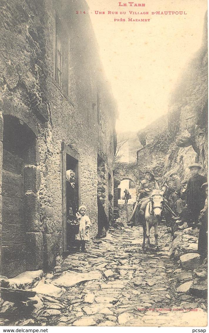 Une Rue Du Village D'Hautpoul, Près Mazamet - Francia