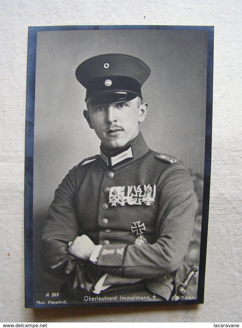 Ww1 Weltkrieg Flieger Pilote Allemand Carte Photo Oberleutnant  Immelmann 1 - Guerre 1914-18