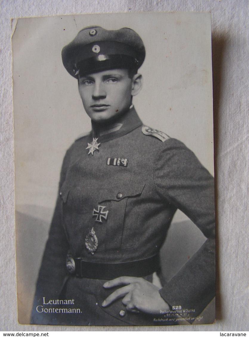 Ww1 Weltkrieg Kampf Flieger Pilote Avion Aviation Soldat Allemand Carte Photo Leutnant Heinrich Gontermann  11 - Guerre 1914-18