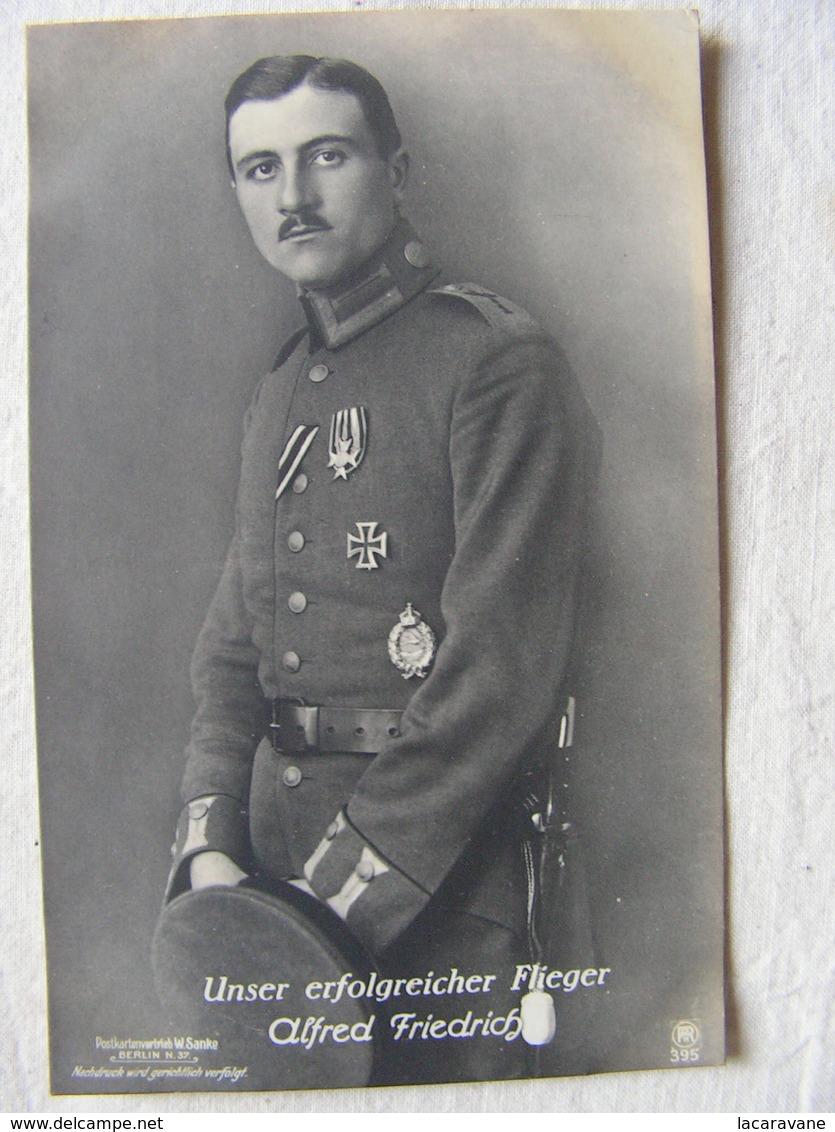 Ww1 Weltkrieg Kampf Flieger Pilote Avion Aviation Soldat Allemand Carte Photo Alfred Friedrich 17 - Guerre 1914-18