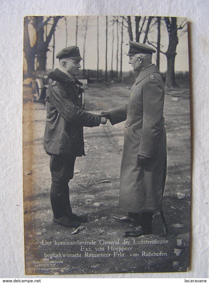 Ww1 Weltkrieg  Luftstreitkrafte Flieger Pilote Avion Aviation Soldat Allemand Carte Photo Von Hoeppner Von Richthofen 22 - Guerre 1914-18