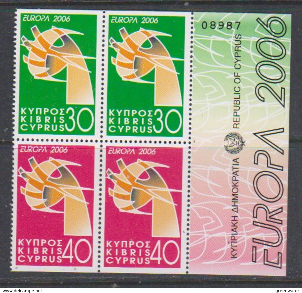 Europa Cept 2006 Cyprus 2x2v From Booklet ** Mnh (38918) - Europa-CEPT