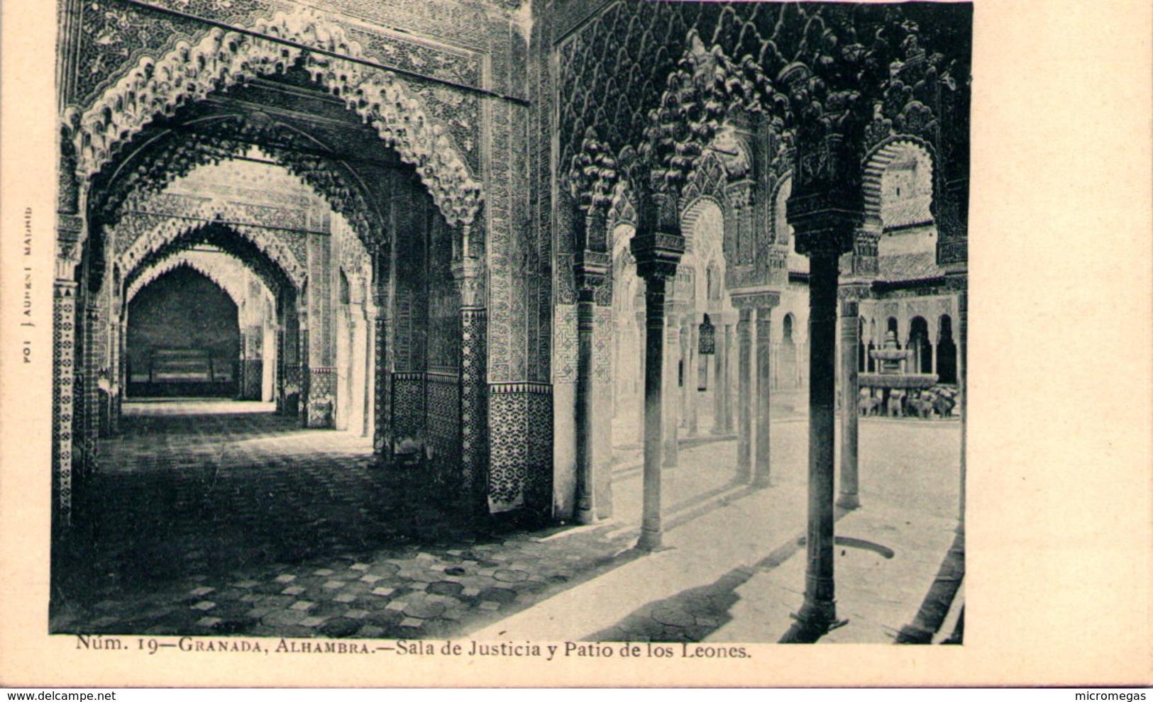 GRANADA - Alhambra - Sala De Justicia Y Patio De Los Leones - Granada