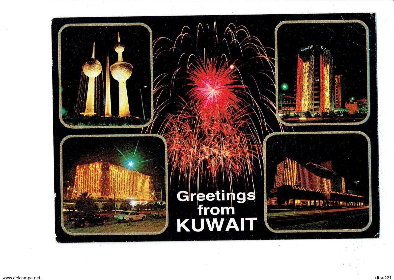 Cpm - KUWAIT - Greetings From Kuwait - KAC - Feu Artifice - Koweït