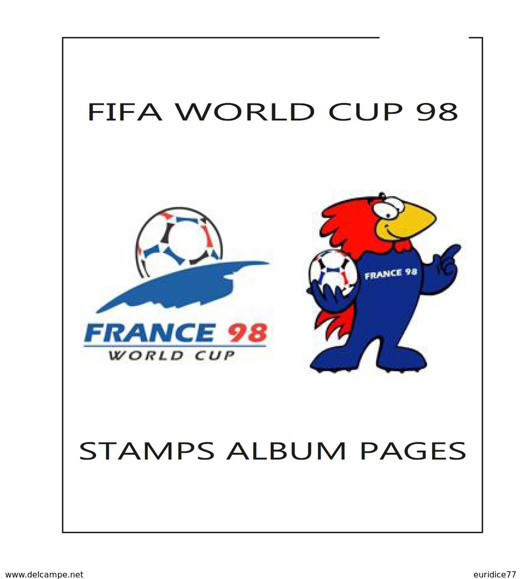 Suplemento Filkasol FIFA WORLD CUP FRANCIA 1998 - Montado Con Filoestuches HAWID Transparentes - Álbumes & Encuadernaciones
