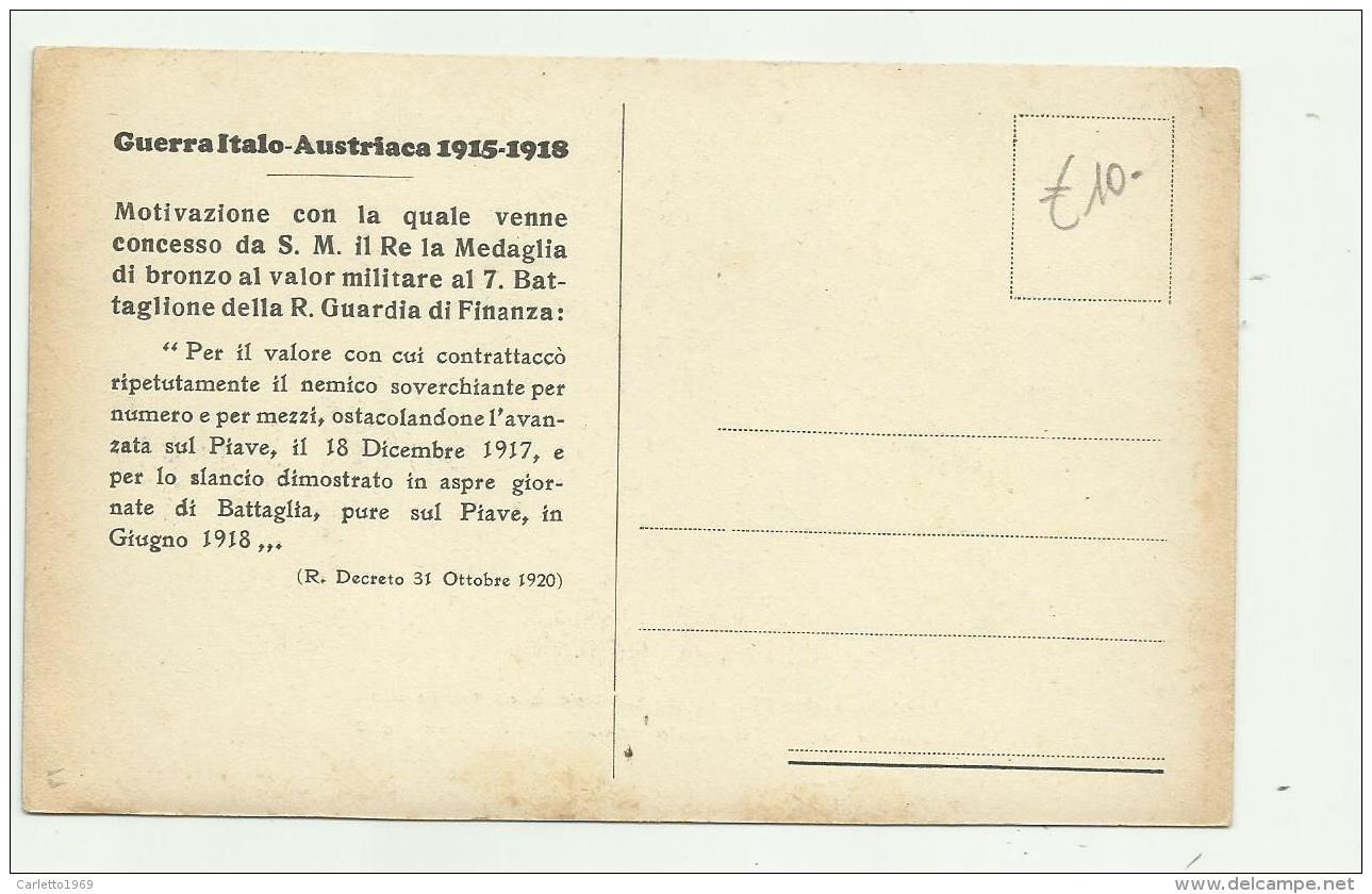 UNIFORME DEI FINANZIERI DEL REGNO DI SARDEGNA  - NV FP - Guerra 1914-18