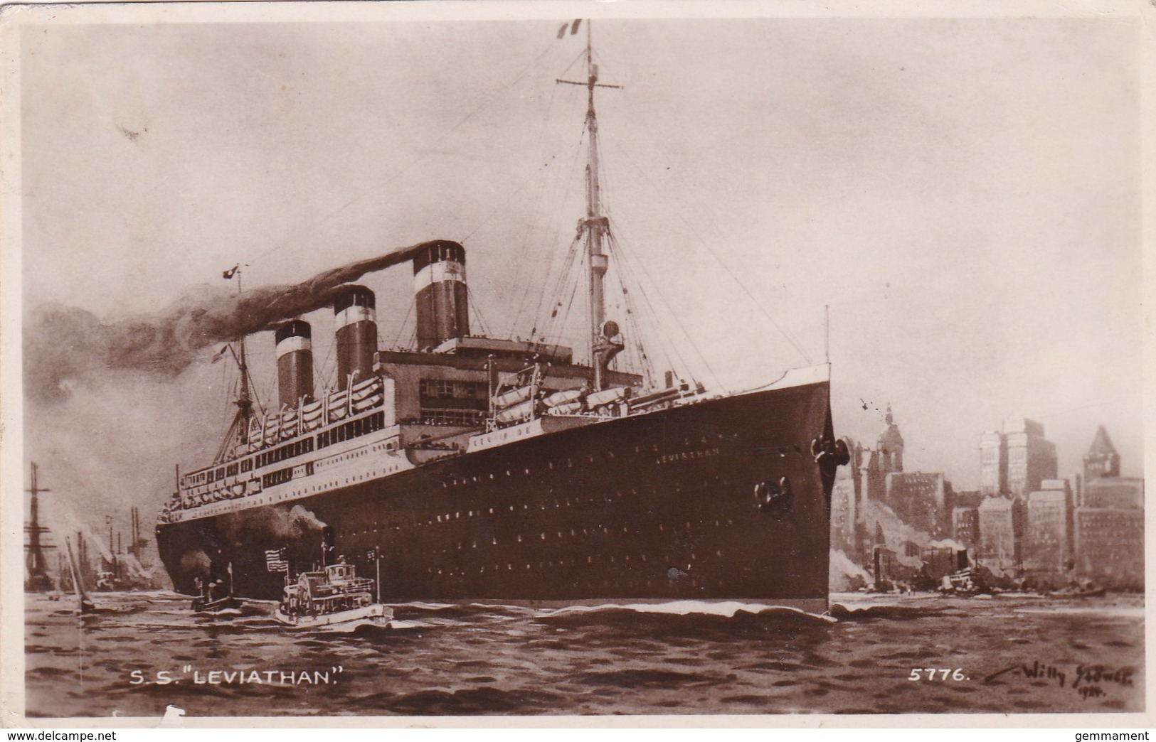 S.S. LEVIATHAN - Paquebote
