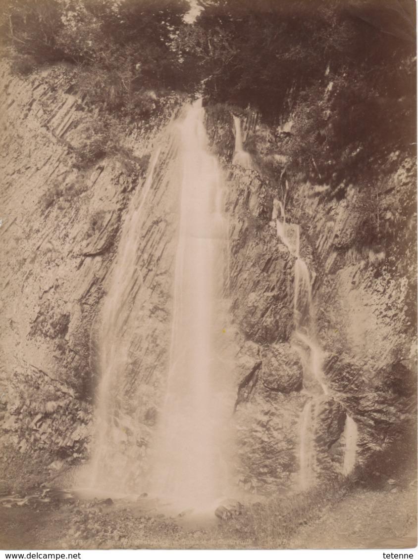 Photo Sur Papier Cascade Queureuilh Le Mont Dore 27.5 X 21.5 - Altri