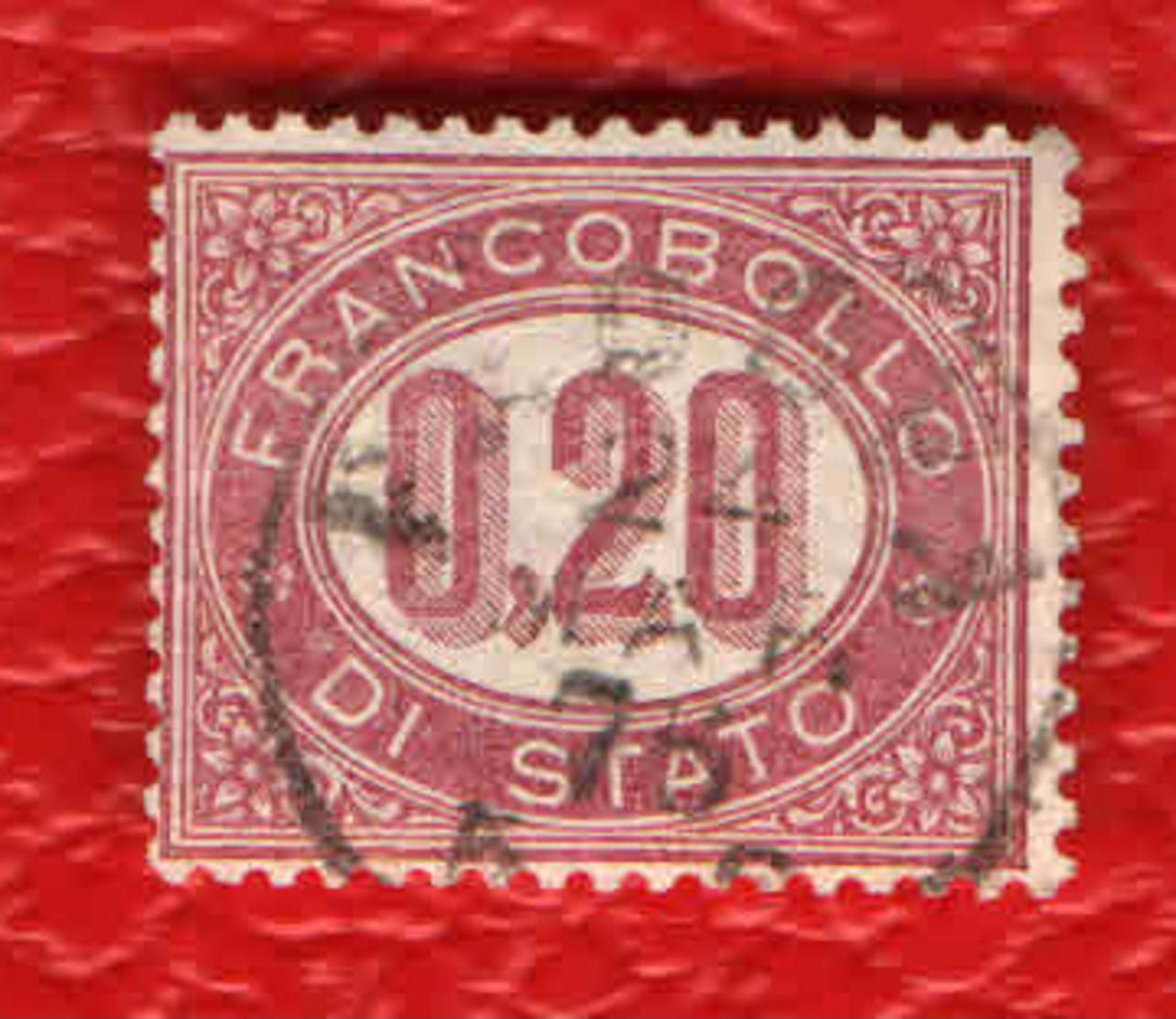 Italia Regno - 1875 - 0,20 C. - ° - 1861-78 Vittorio Emanuele II