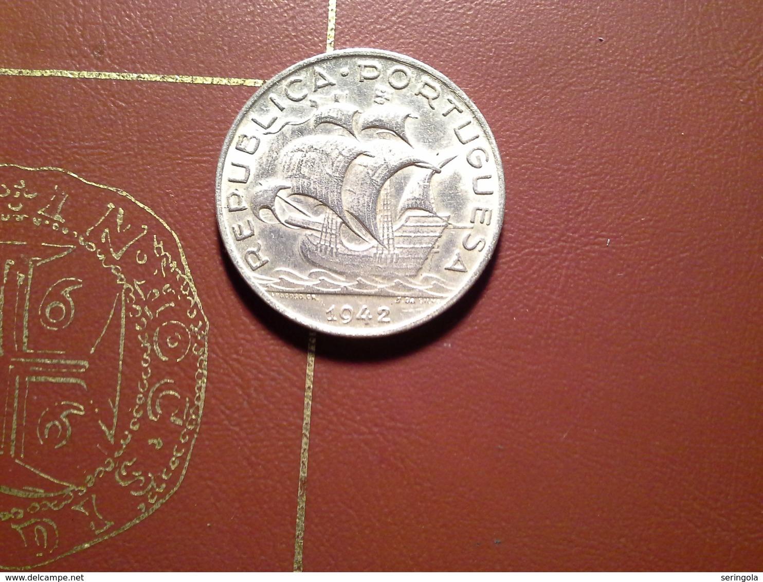 5 Escudos 1942    Silver UNC - Portugal
