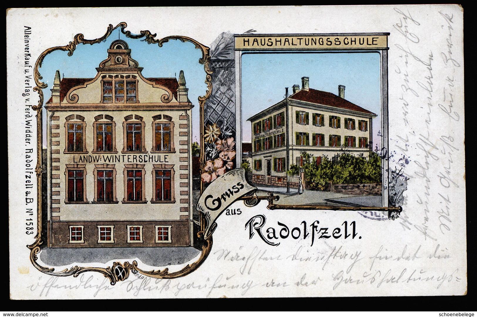 A5468) Ansichtskarte Radolfzell 1907 2 Schulen Gebraucht Used - Radolfzell