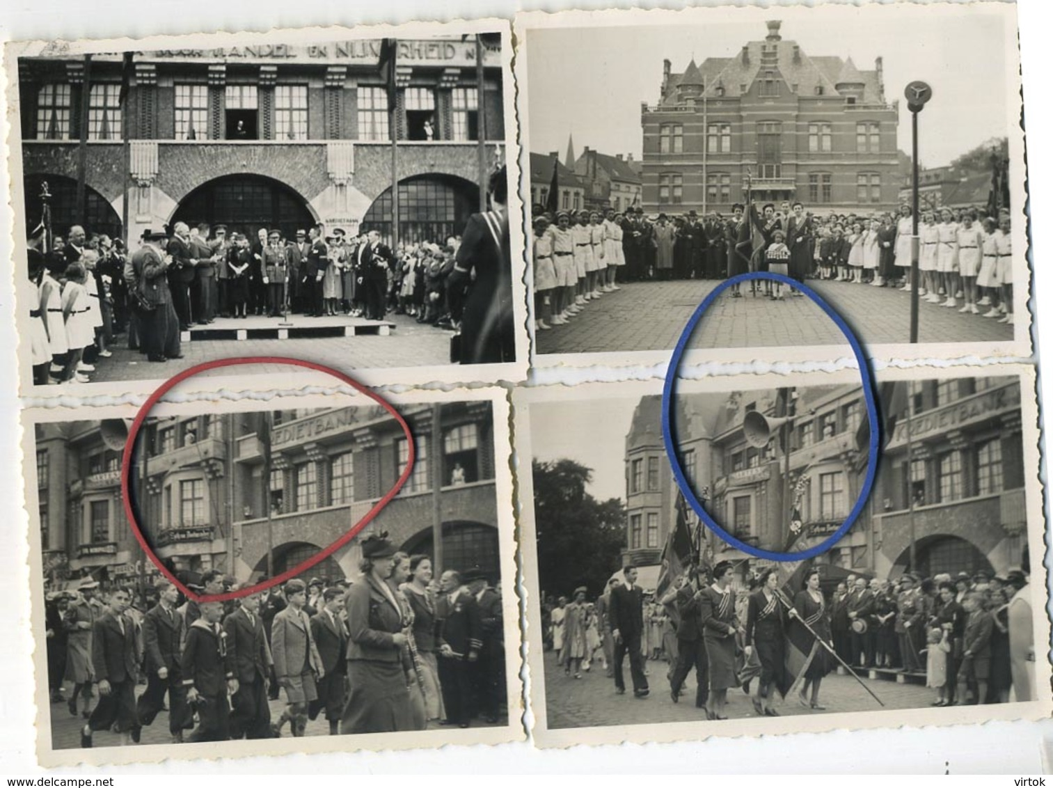 Mortsel   (  4 Oude Foto's  8.5  X 6  Cm ) - Lugares