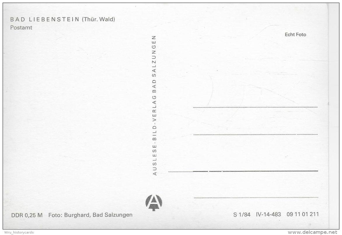 AK 0916  Bad Liebenstein ( Postamt ) - Ostlagie , DDR Um 1984 - Bad Liebenstein