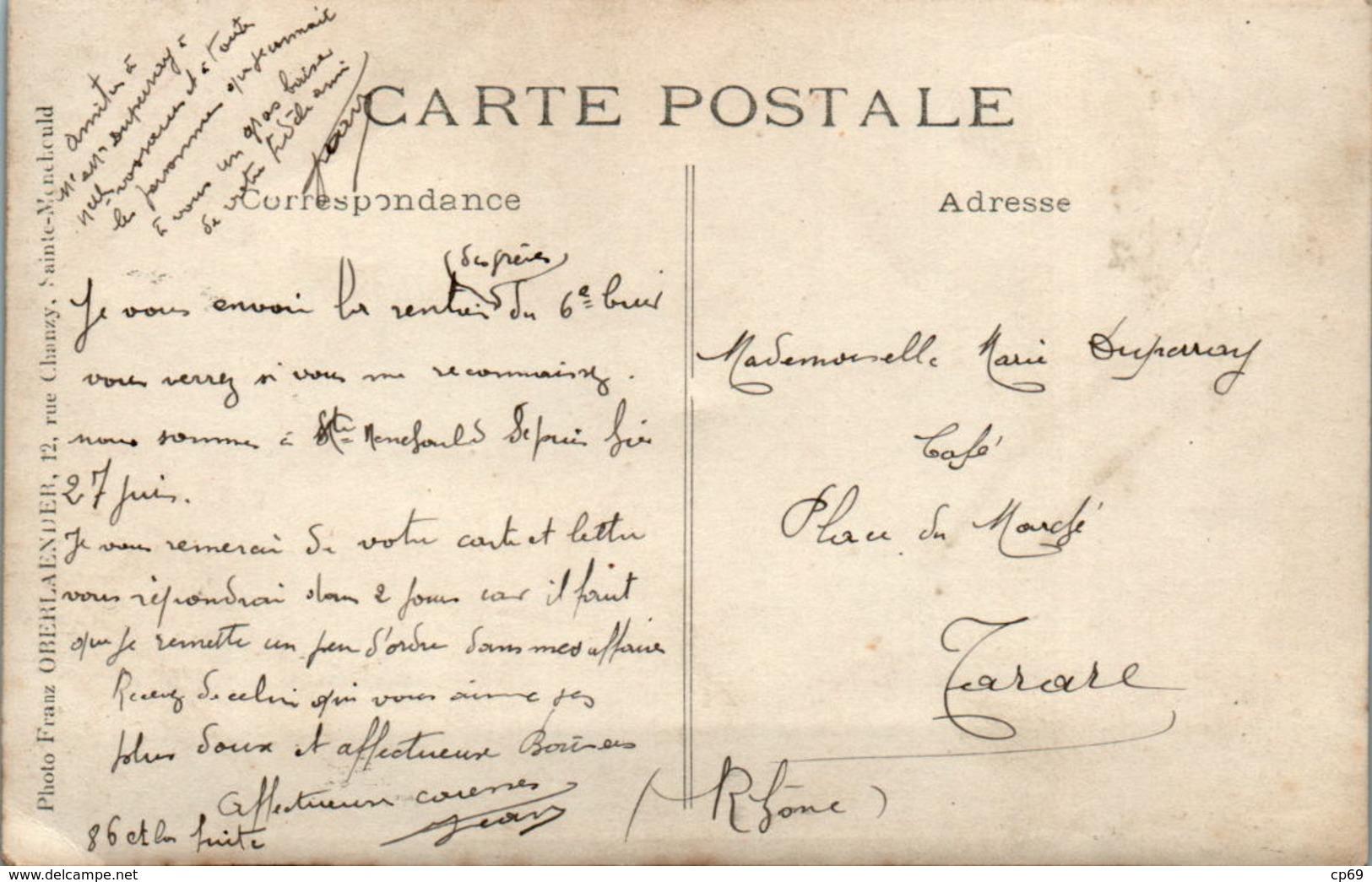 CARTE PHOTO Sainte-Menehould Grèves En Champagne Retour Du 6 ème Régiment De Cuirassiers Dragons à Cheval 27 Juin 1911 - Sainte-Menehould