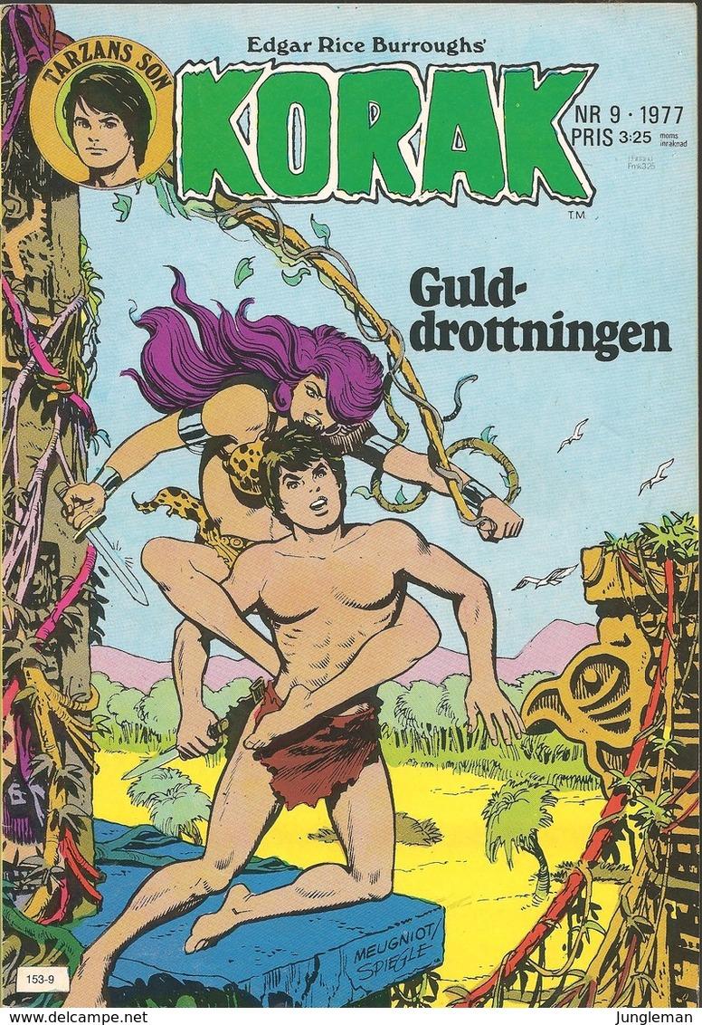 Korak Tarzans Son Nr 9 - 1977 (In Swedish) Atlantic Förlags AB - Guld Drottningen - Kattens Nio Liv - BE - Books, Magazines, Comics