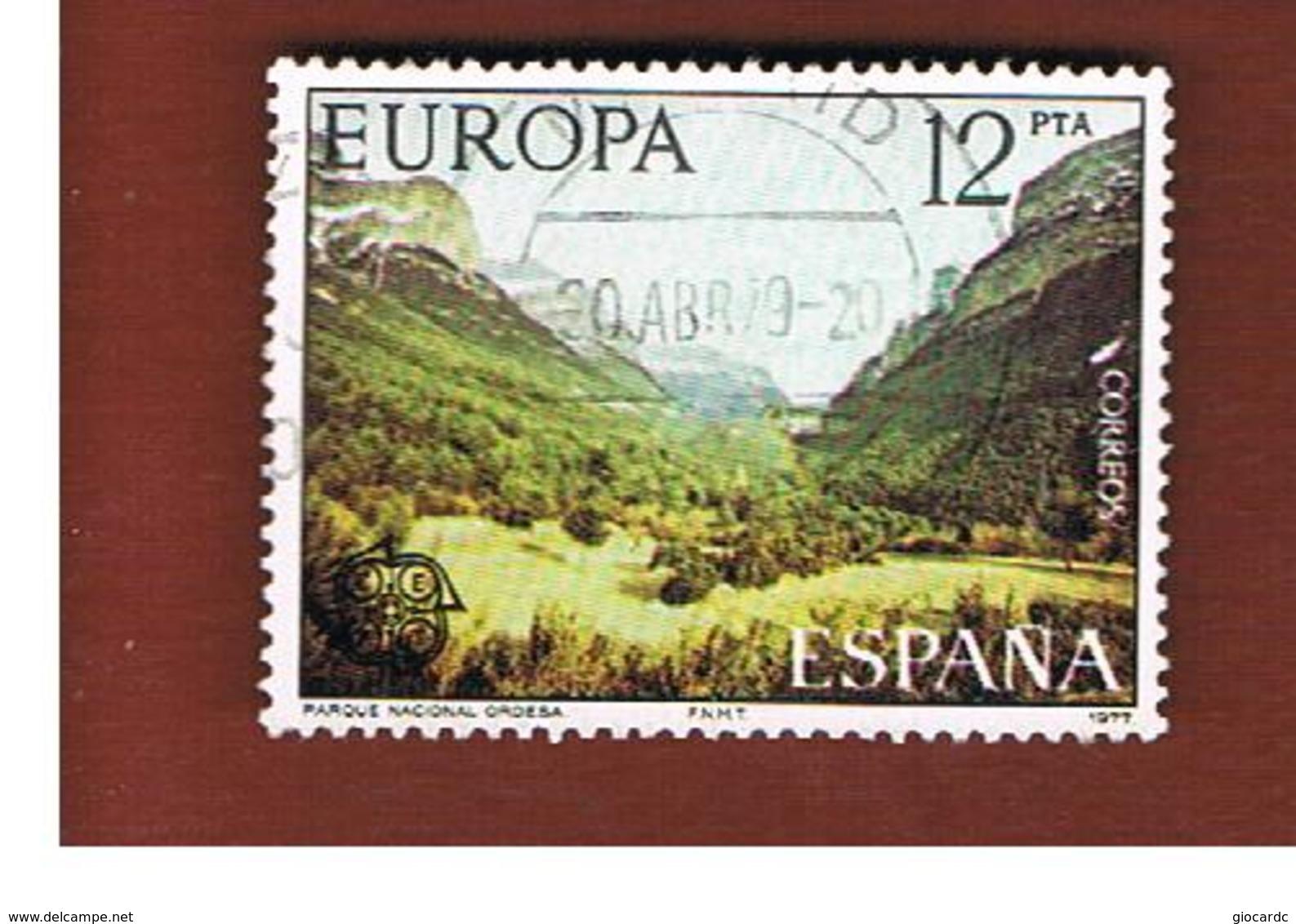 SPAGNA (SPAIN)  - 1977 EUROPA  - USED - 1977