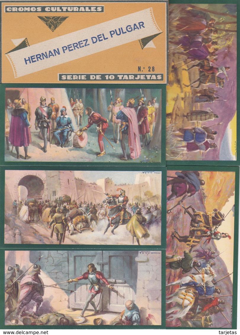 HERNAN PEREZ DEL PULGAR - CROMOS CULTURALES EDICIONES BARSAL. COMPLETA 10 CROMOS EN SU ESTUCHE ORIGINAL - Cromos