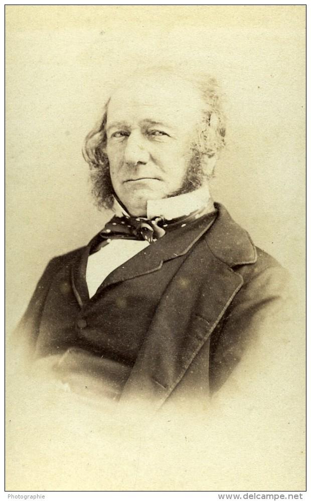 France Paris William Gladstone Politique Britannique Ancienne Photo CDV Disderi 1870 - Anciennes (Av. 1900)