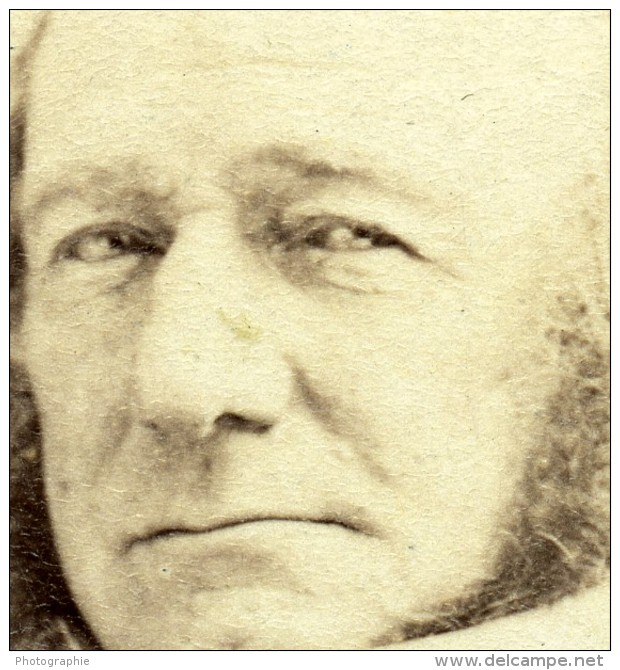 France Paris William Gladstone Politique Britannique Ancienne Photo CDV Disderi 1870 - Old (before 1900)
