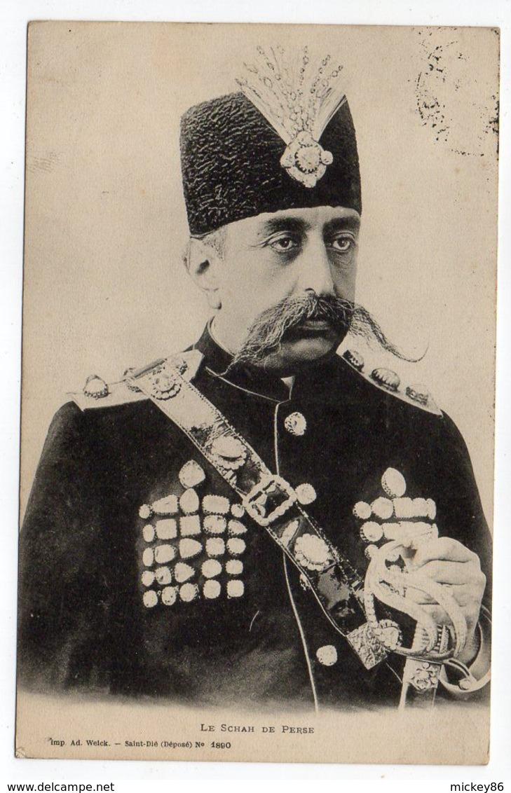"Iran--Le Schah (shah) De Perse""Mozaffar-ad-Din-Shah-Qajar-Mozaffaredin""-cachet Contrexéville-88-Charleville-08 - Iran"