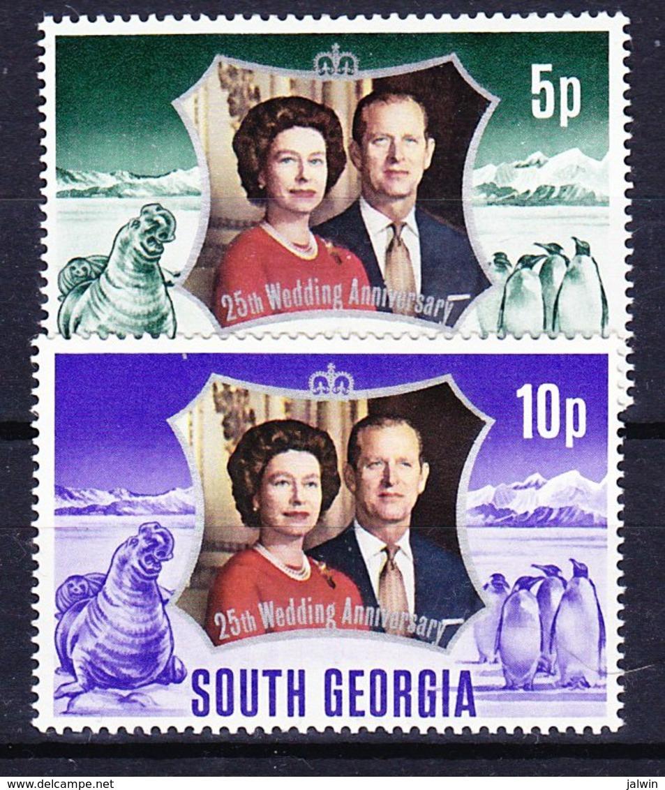 FALKLAND ISLAND DEPENDENCIES - GEORGIE DU SUD 1972-74 YT N° 43 à 48 ** - Géorgie Du Sud