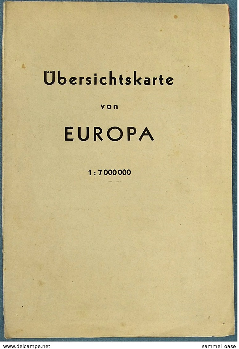 Brockhaus Landkarte / Übersichtskarte Europa 1940  - 51 X 64 Cm -  Maßstab 1 : 7.000.000 - Maps Of The World