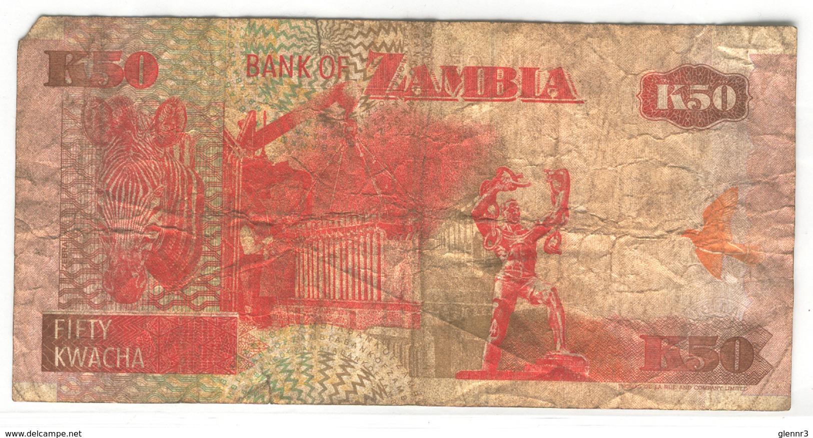 ZAMBIA 37a 1992 50 Kwacha Used Fair - Zambia
