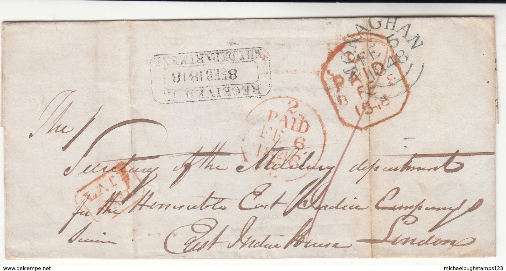 Ireland / County Monaghan / Late Mail / London / East India Company - Ireland