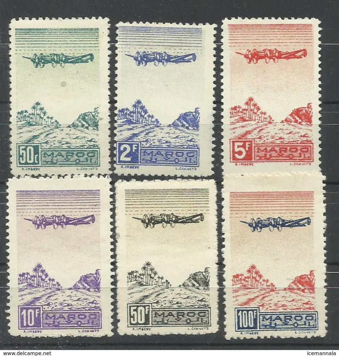 MARRUECOS YVERT AEREO   50/55   MH  * - Marruecos (1891-1956)