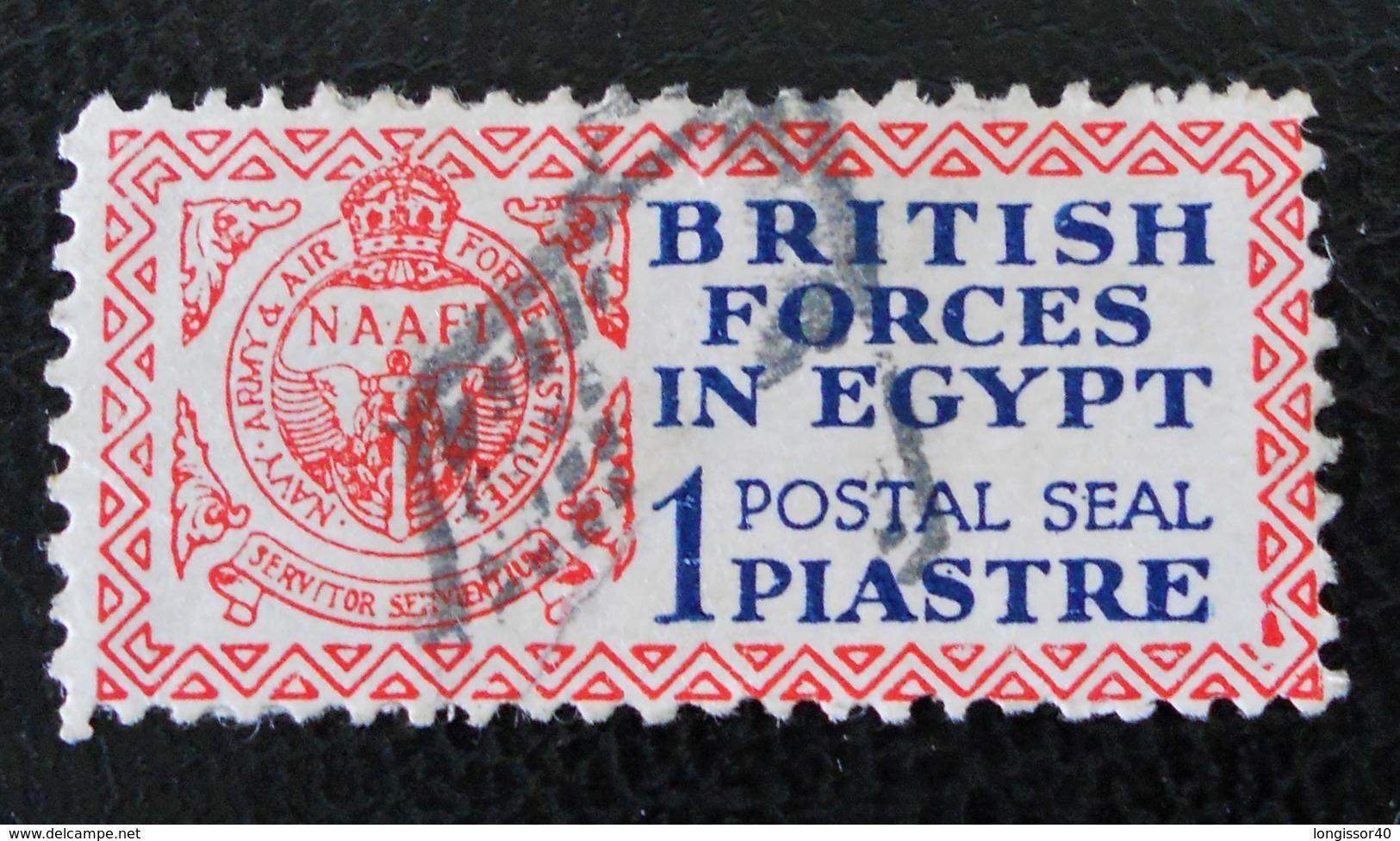FORCES BRITANNIQUES EN EGYPTE - OBLITERE - MI 1 - Égypte