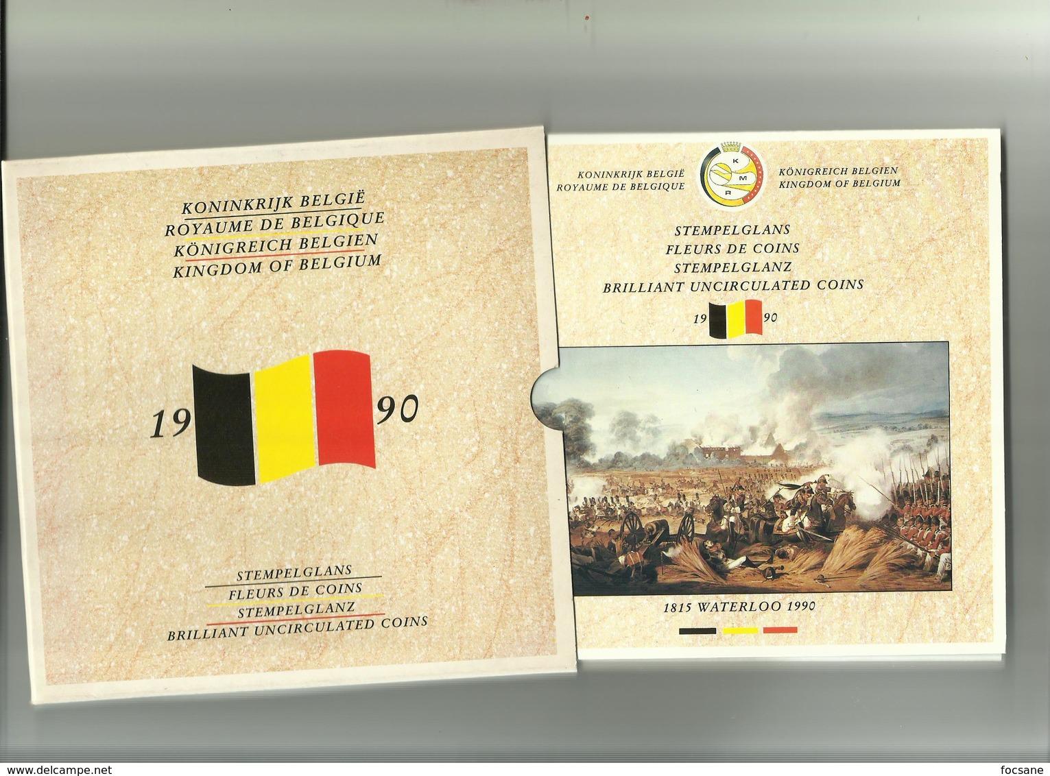 Fleurs De Coins Belgique 1815 WATERLOO 1990 - Belgique