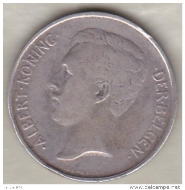 BELGIQUE. 2 Frank 1911. ALBERT I. Légende Flamand. ARGENT - 1909-1934: Albert I