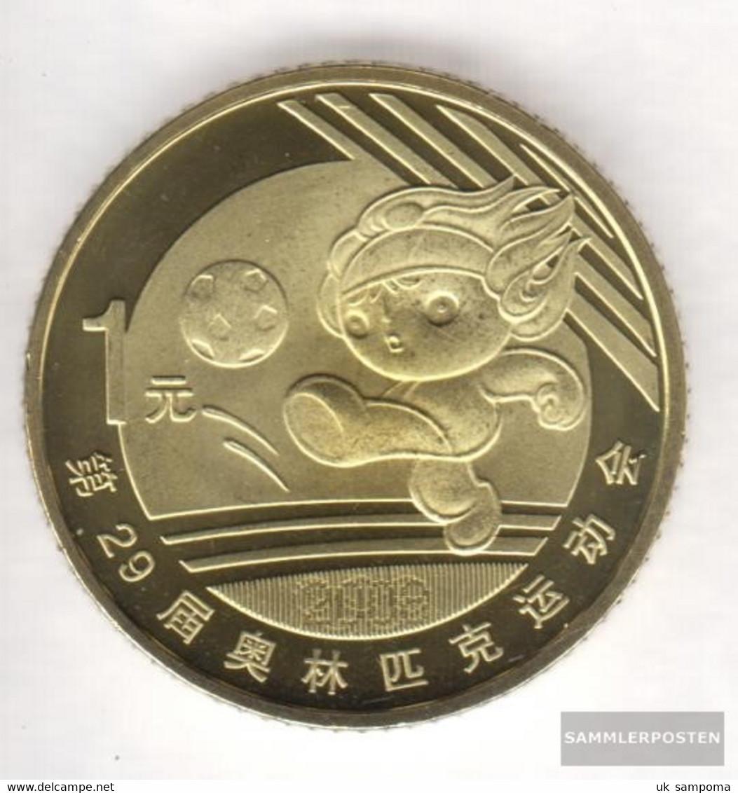 People's Republic Of China Km-number. : 1810 2008 Stgl./unzirkuliert Brass Stgl./unzirkuliert 2008 1 Yuan Olympics Games - China