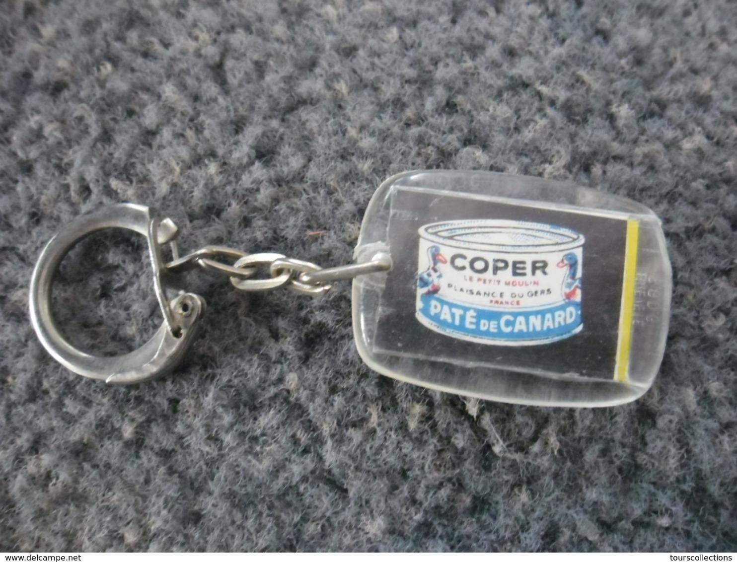 1 PORTE CLEFS COPER - Paté De Canard De Plaisance Du Gers (32) Coq @ Vers 1965 - Porte-clefs