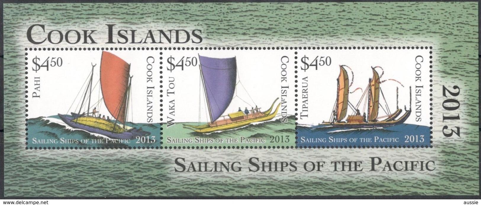 Cook Islands 2013 Yvertn° Bloc 237 *** MNH  Cote 25,00 Euro Transport Boten Ships Bateaux Du Pacifique - Islas Cook